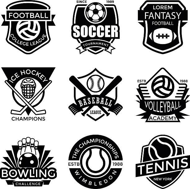 Sports Badges vector art illustration