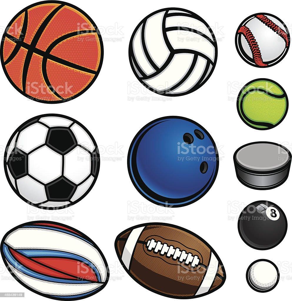Sports Ball Equipment vector art illustration