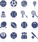 Sports ball icon collection