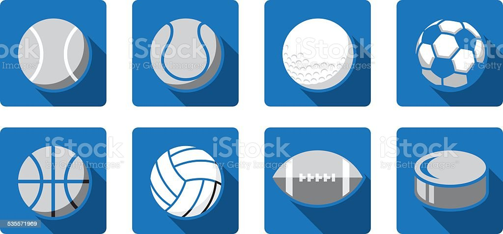Sports Ball Icons Vector royalty-free sports ball icons vector stock vector art & more images of 2015