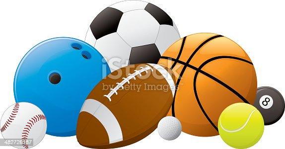 Bola pilha de esportes