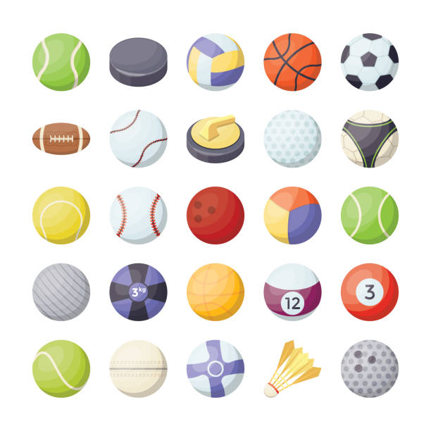 Sports Balls Flat Vector Icons Set In case you're hoping to add some adrenaline to your outlines, this flat vector icons set of sports balls is certain to do the trap. This pack is ranging from soccer balls to volleyball, basketball to beach ball vectors. This set incorporates vectors that speak to a wide assortment of sports balls. shuttlecock stock illustrations