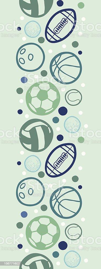 Sports Balls Seamless Vertical Ornament royalty-free stock vector art