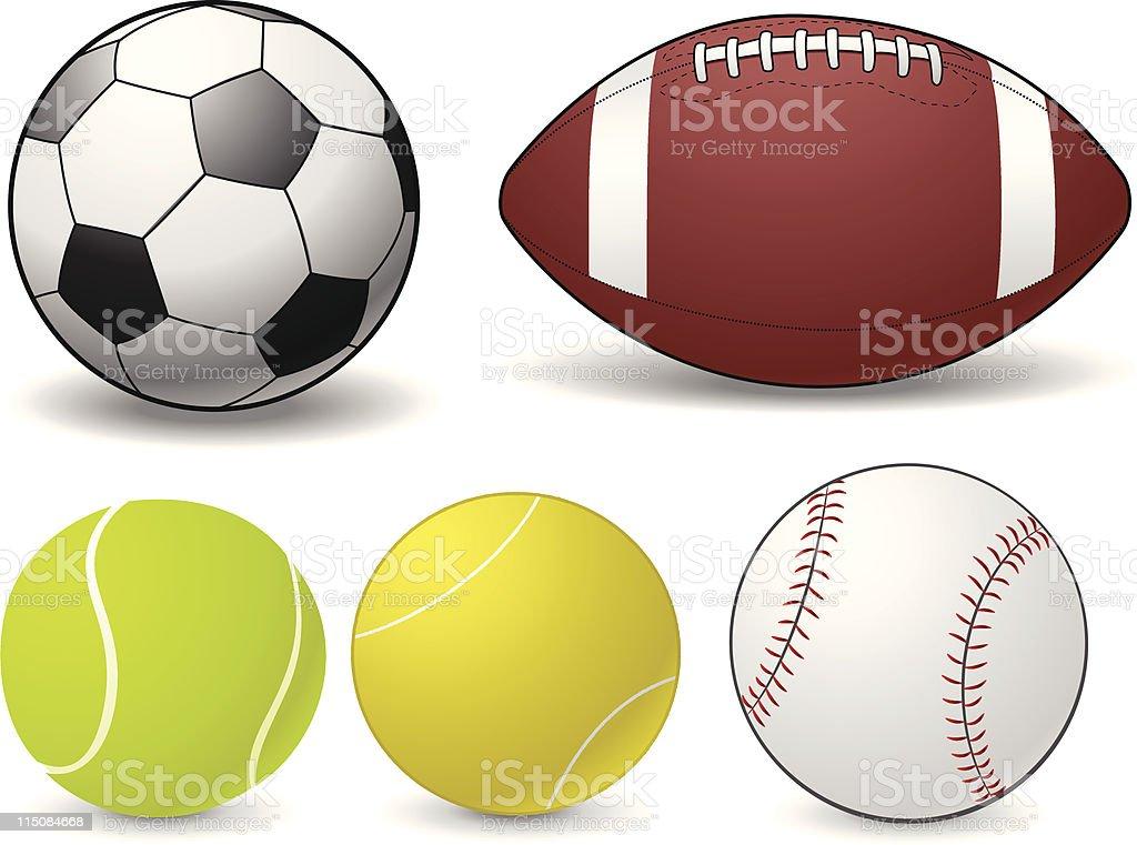 Sports Balls royalty-free stock vector art