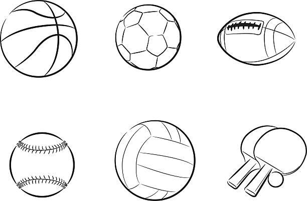 スポーツボール - ソフトボール点のイラスト素材/クリップアート素材/マンガ素材/アイコン素材