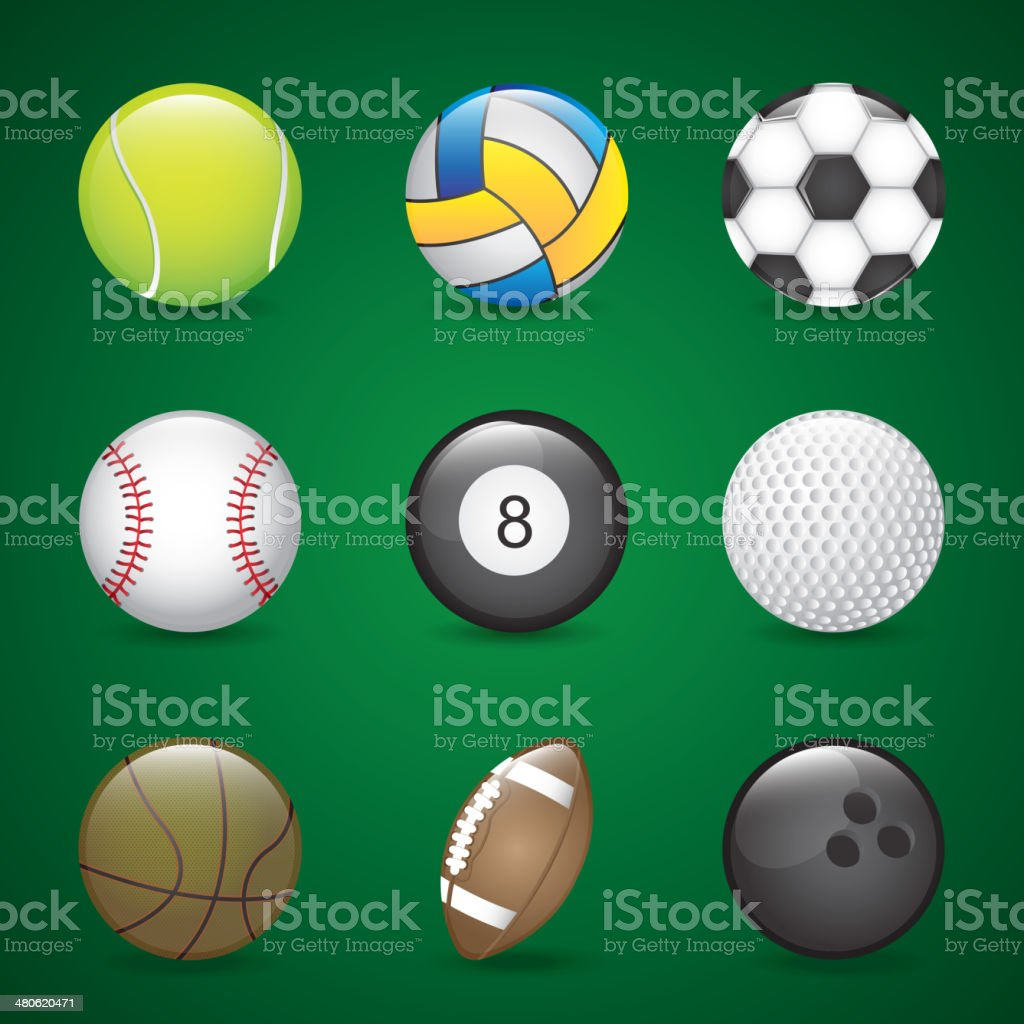 sports balls royalty-free sports balls stock vector art & more images of activity