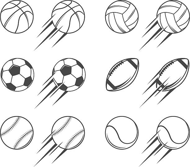 sports balls - football stock illustrations, clip art, cartoons, & icons