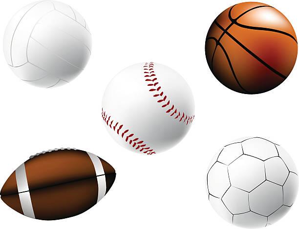 Sportowe piłki – artystyczna grafika wektorowa
