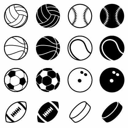Sports Balls Vector Illustration Set on White