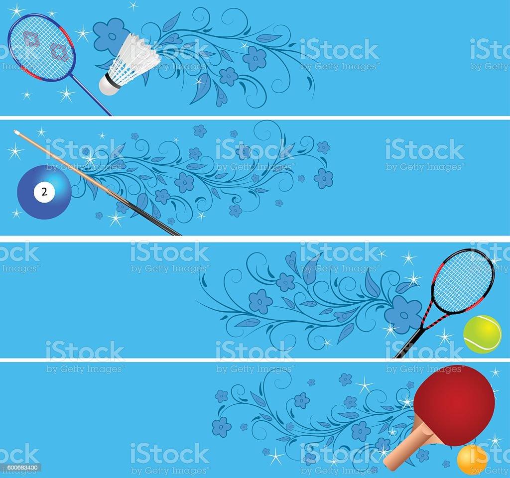 Tennis Team Banners Blue Lightning Banners