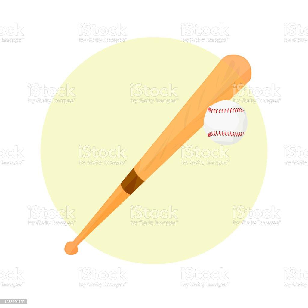 Modern sports baseball game. Wooden baseball bat and a silhouette of...