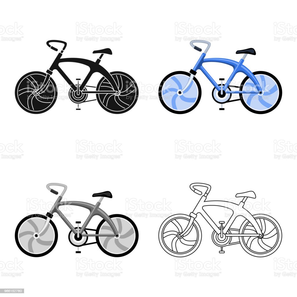 A sports bike for a quick ride down the road. Bicycle ecological economical transport.Transport single icon in cartoon style vector symbol stock web illustration. - Royalty-free Ao Ar Livre arte vetorial