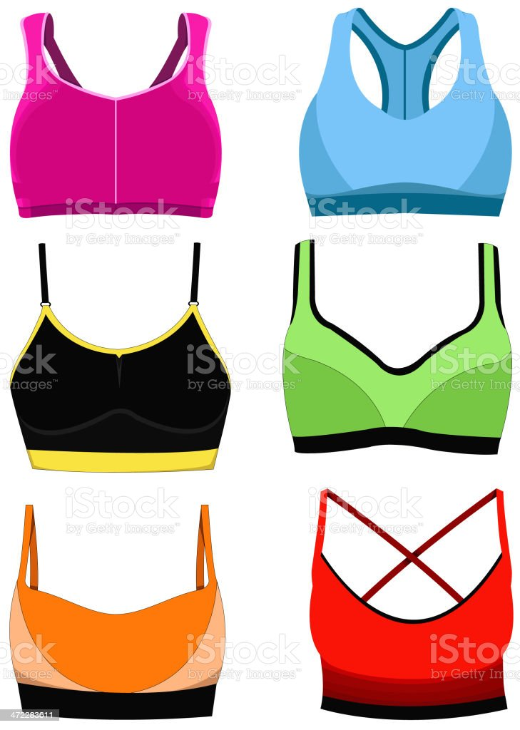 sports bra stock vector art more images of arts culture and rh istockphoto com