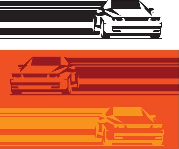 ilustrações de stock, clip art, desenhos animados e ícones de sports car banners - driveway, no people