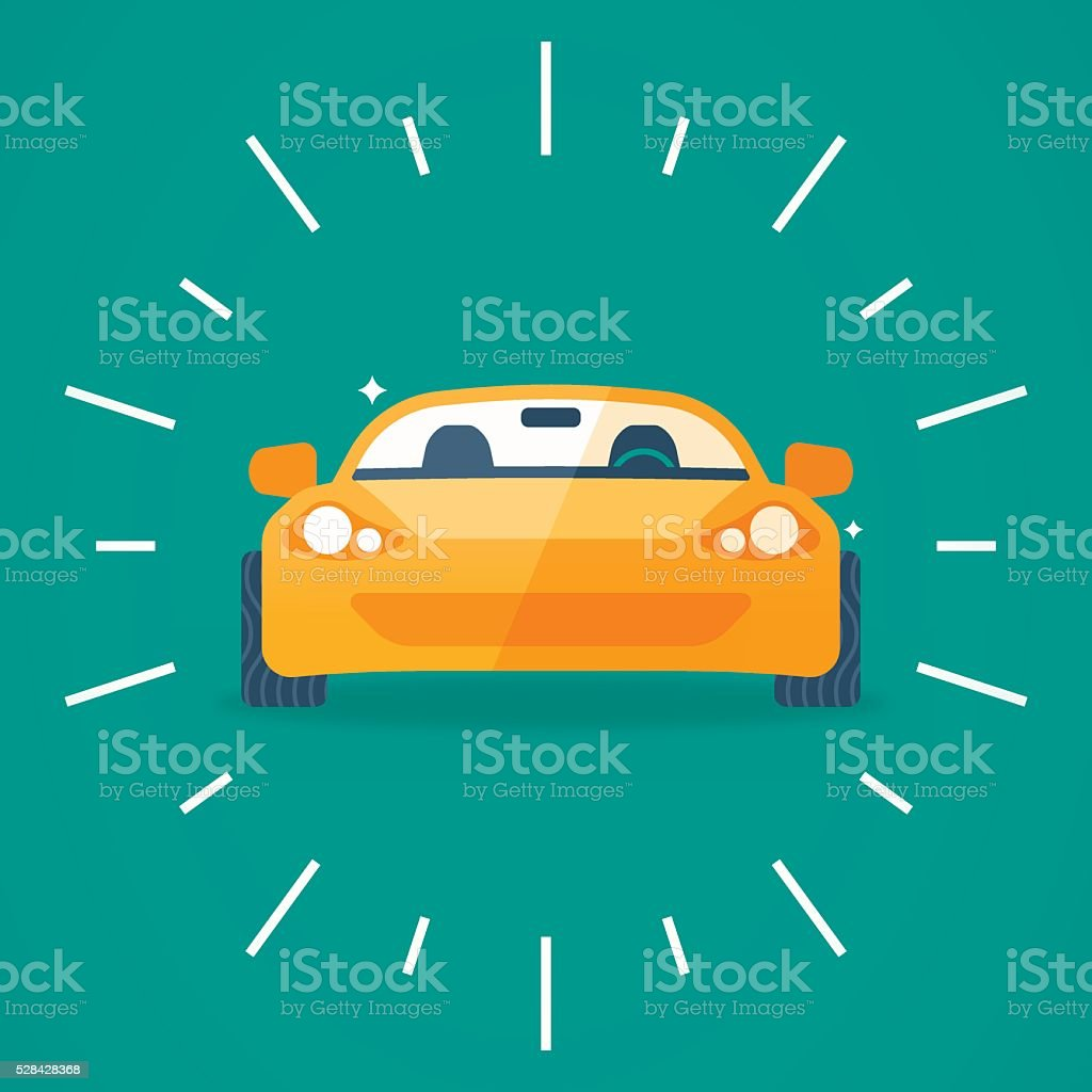 Sports Car Front View vector art illustration