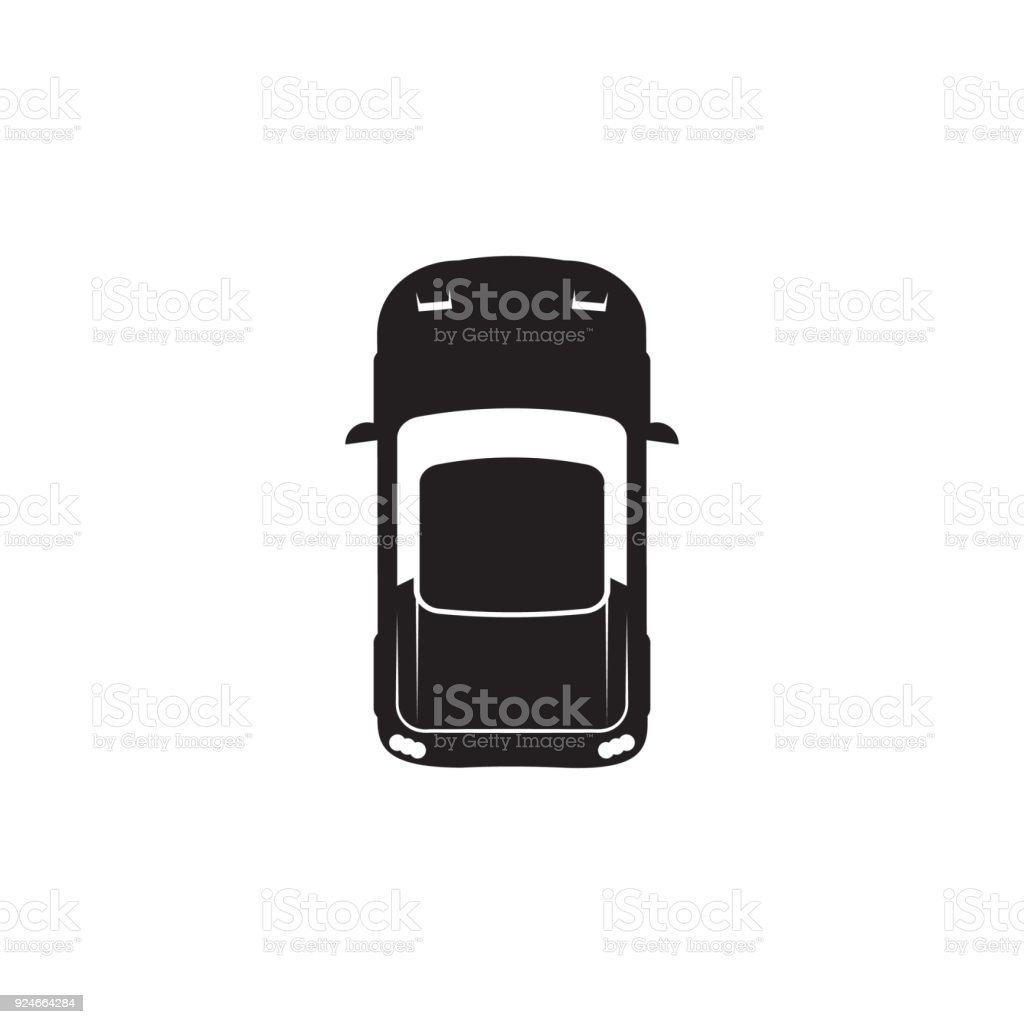 Sports Car Icon Element Of Transport View From Above Icon One Of The