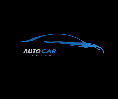 Sports Car Logo company vector Illustration