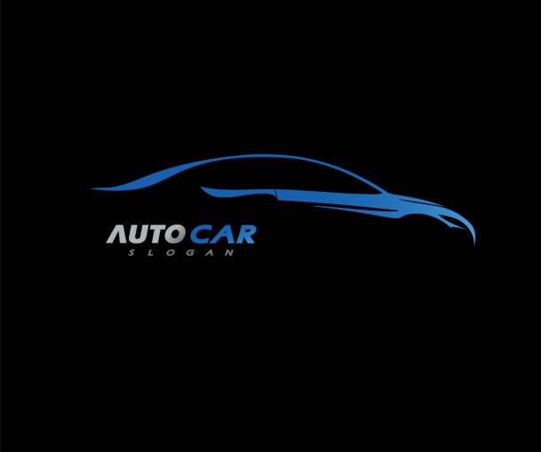 illustrazioni stock, clip art, cartoni animati e icone di tendenza di sport car logo società vettore illustrazione - auto