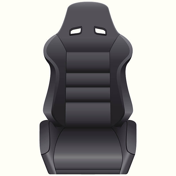 Sports Car Seat Vector Art Illustration