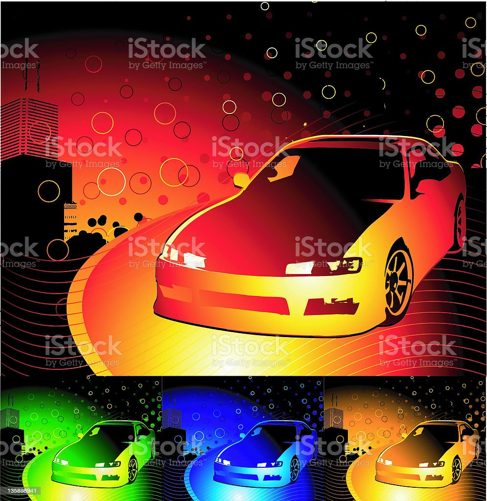 sports car (vector) royalty-free stock vector art