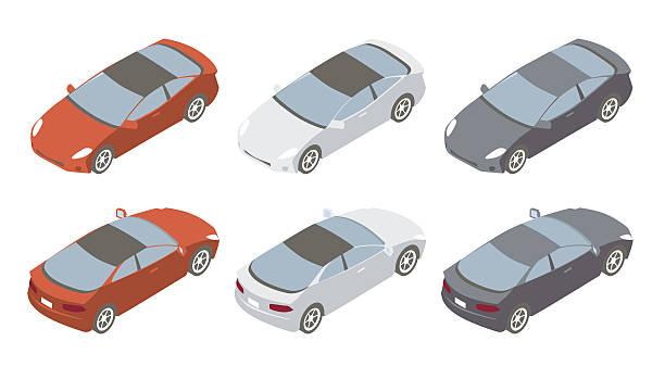 Sports Cars Isometric Illustration vector art illustration