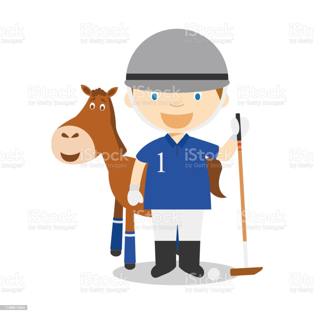 Man side view turned head boy in polo Royalty Free Vector