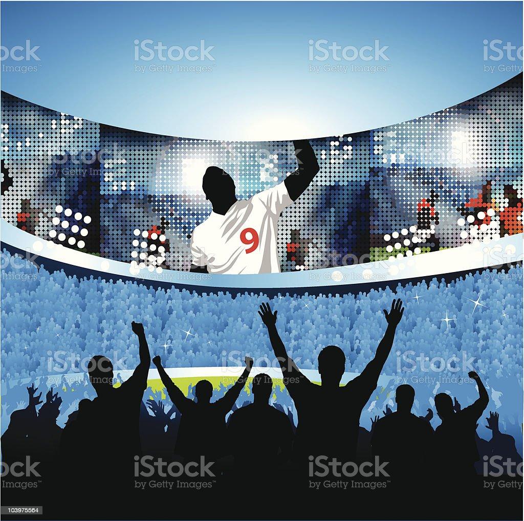 Sports celebration vector art illustration