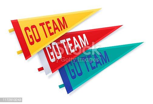 istock Sports College Go Team Fan Pennants 1172513243