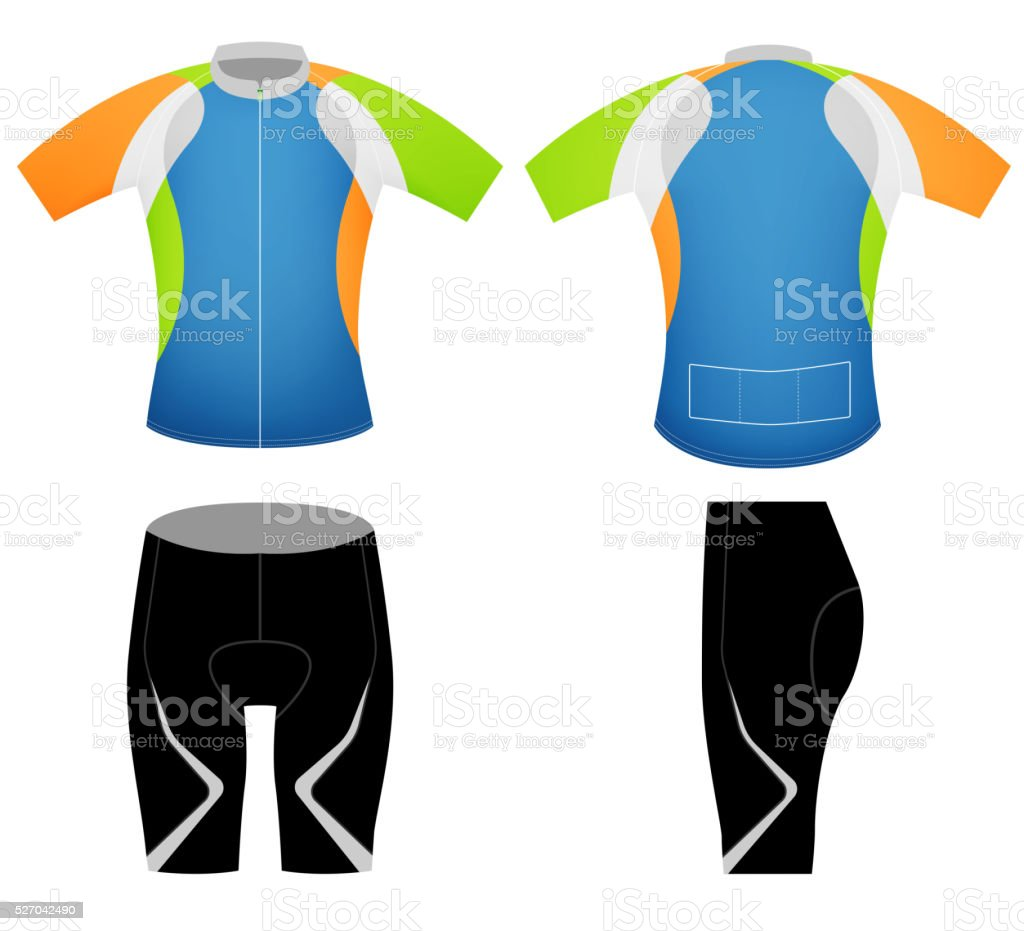 Sports colors t-shirt vector art illustration