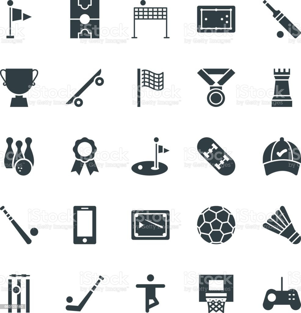 Sports Cool Vector Icons 2 vector art illustration