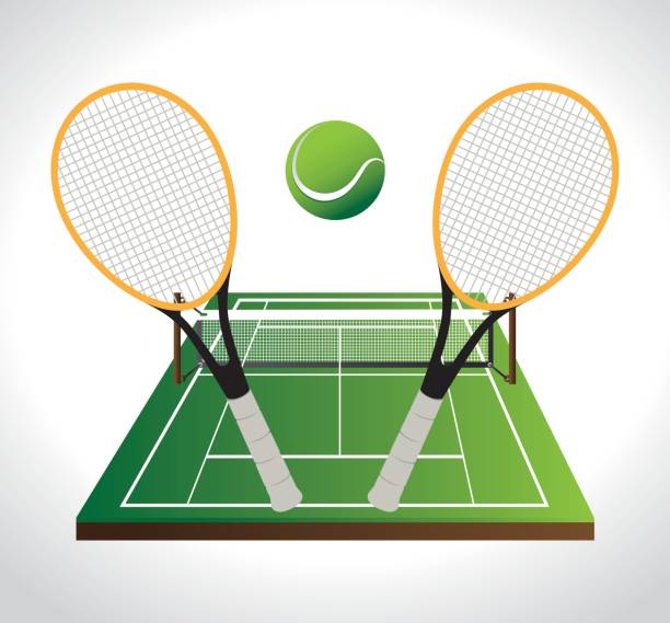 Royalty Free Tennis Net Clip Art, Vector Images ...