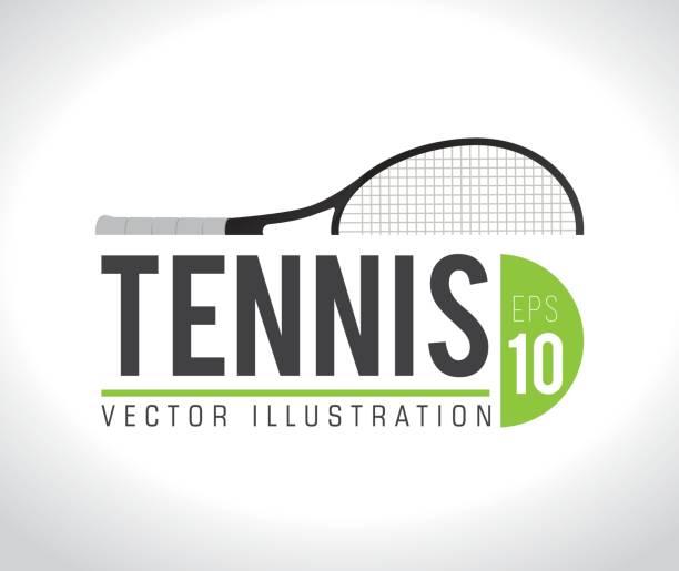 sports design, vector illustration - tennis stock illustrations, clip art, cartoons, & icons
