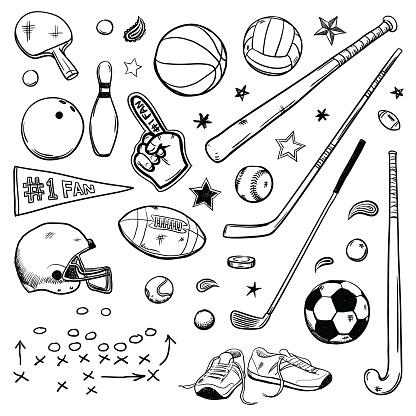 Sports doodles