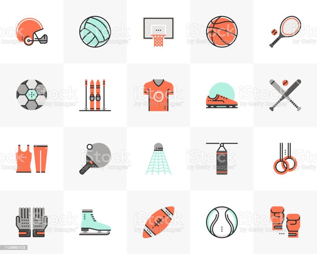 fba7b62a5 Equipamento desportivo futuro próximo pacote de ícones vetor de equipamento  desportivo futuro próximo pacote de ícones