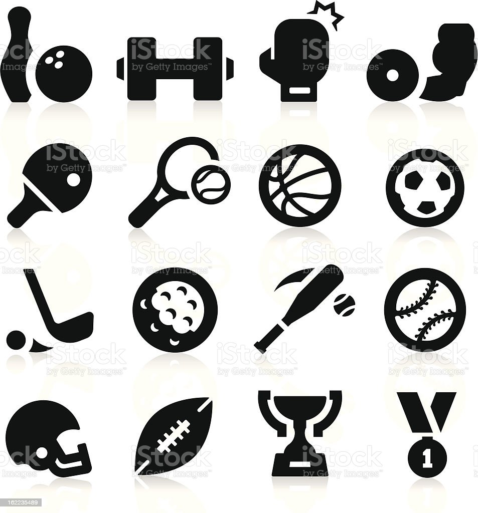 Sports Equipment Icons royalty-free stock vector art