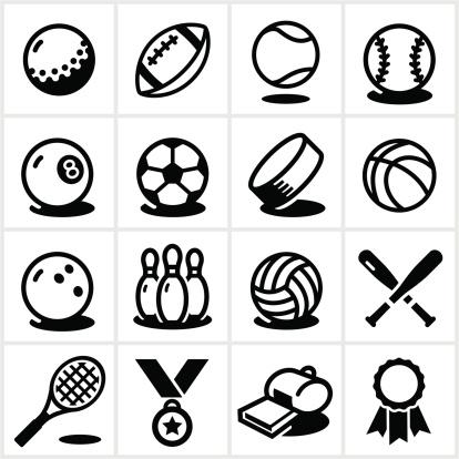 Sports Equipment Icons