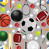 Sports Equipment Seamless Pattern