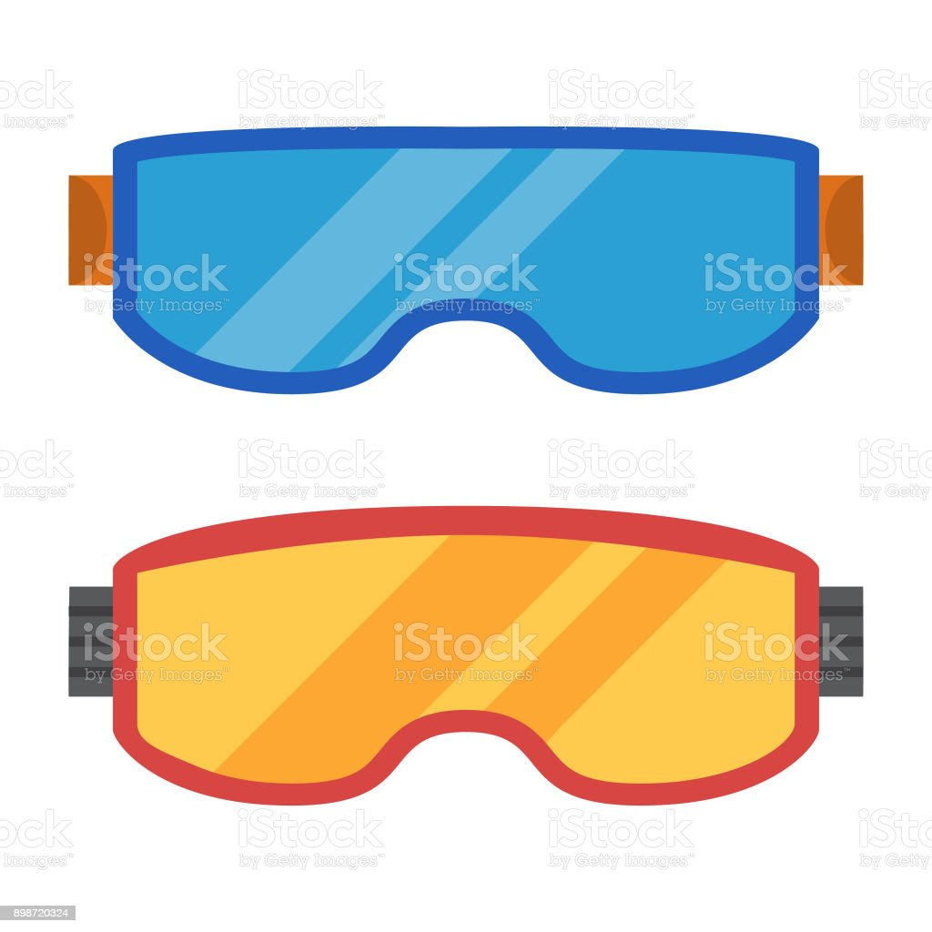030053c587d7 Sports equipment. Ski goggles for a snowboard. Clothes for winter sports.  Sunglasses for skiing and a snowboard. - Illustration .