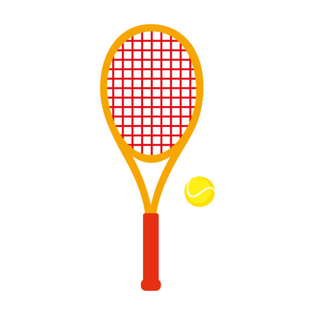 Sports Equipment. Tennis Sports Equipment. Tennis. Vector illustration isolated on white background racket stock illustrations