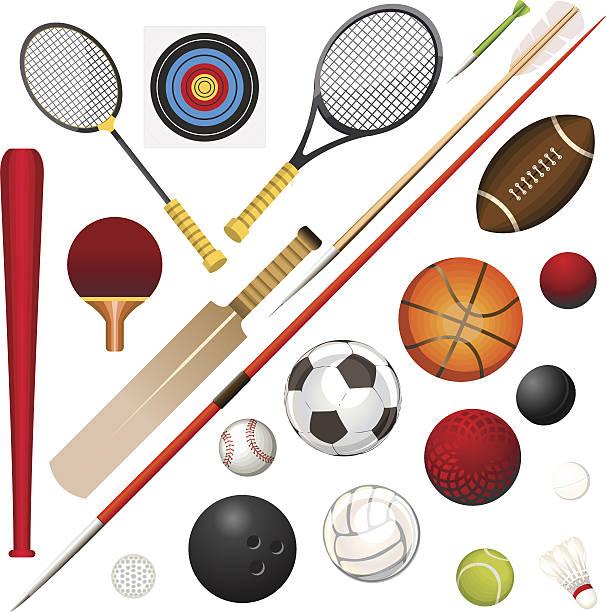 sports equipment - gerechtigkeitsliga stock-grafiken, -clipart, -cartoons und -symbole