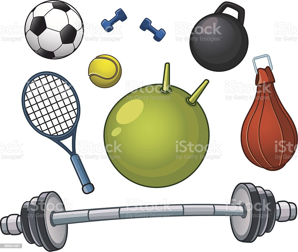 Sports equipment royalty-free sports equipment stock vector art & more images of ball