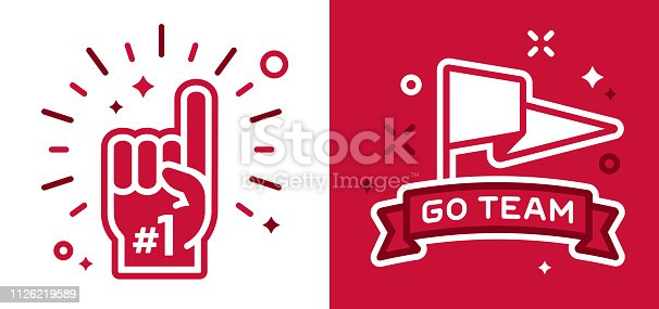 istock Sports Fans Cheering Symbols 1126219589