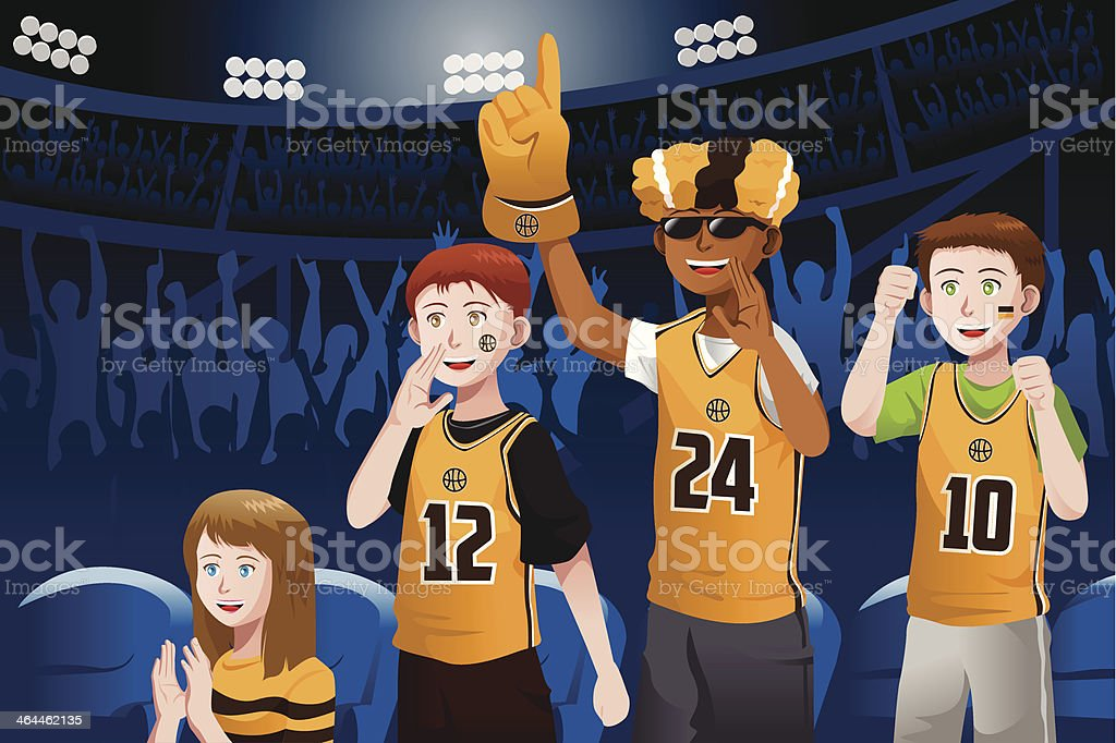 Sports fans in a stadium royalty-free sports fans in a stadium stock vector art & more images of adult