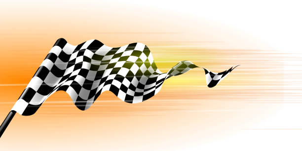 Sports flag Racing flag background auto racing stock illustrations