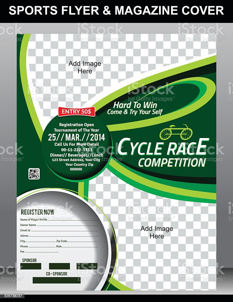 sports flyer magazine cover template stock vector art more images