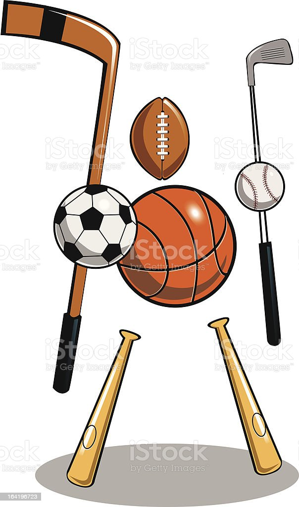 sports freak royalty-free stock vector art