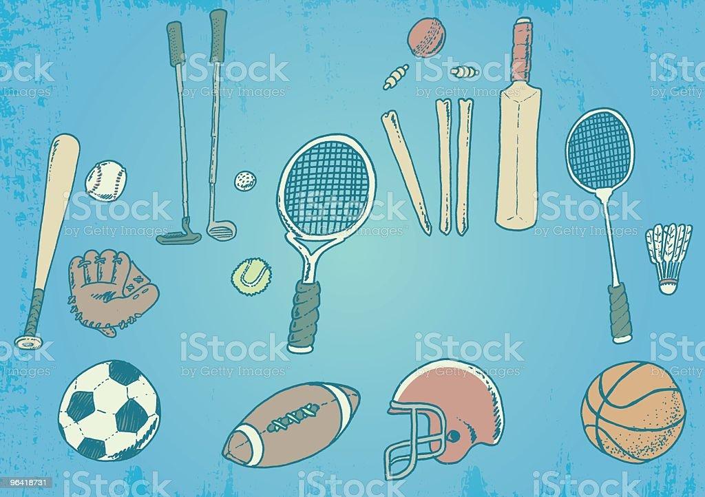 Sports Freak! vector art illustration