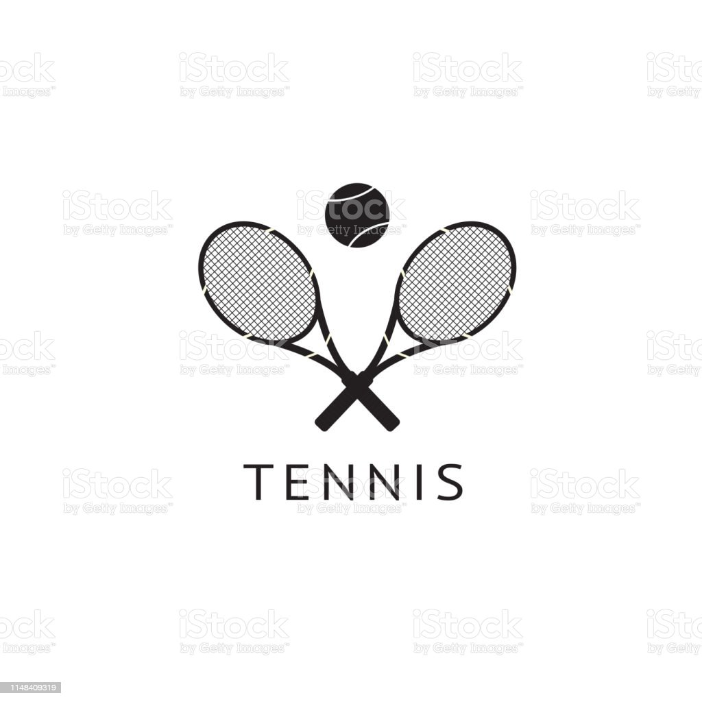 Sports Game Big Tennis Logo And Icon Two Rackets And A Ball Stock Illustration Download Image Now Istock