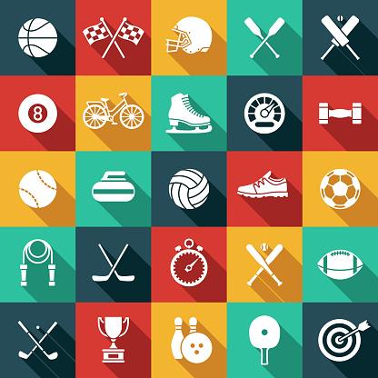 Sports Glyph Icon Set