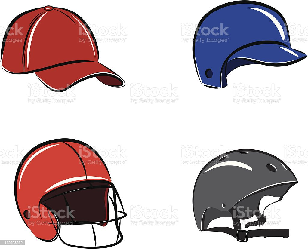 Sports Headgear vector art illustration